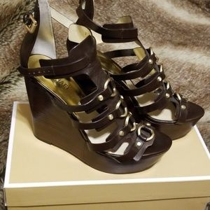 MK Leather wedges